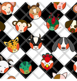 Chinese Zodiac Black White Chess Board vector image vector image
