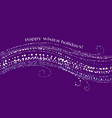 christmas decorative snow wave on violet vector image vector image