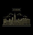 cityscape design line art style vector image