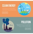 Clean energy and air pollution banners vector image vector image