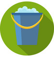 cleaning icon bucket vector image