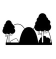 contour countains with trees and ecology landscape vector image vector image