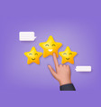 customer review concepts reviews stars with good vector image