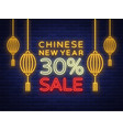 discounts for the chinese new year 2018 sale vector image