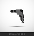 drill in a flat style with long shadow vector image