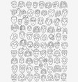 faces of people - thin line icon set vector image vector image