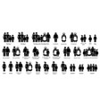 family relatives and relationships big icon set vector image