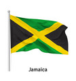 flag jamaica vector image