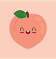 flat cute cartoon peach vector image vector image