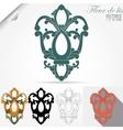 fleur de lis emblem heraldic symbol vector image vector image