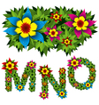 flowers alphabet 05 vector image vector image