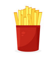 french fries icon fastfood isolated sweet food vector image vector image