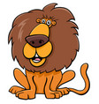 funny lion animal character cartoon vector image