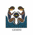 gemini horoscope sign vector image vector image