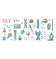 genetic engineering and medical research vector image