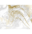 gold and gray marbled texture watercolor hand vector image