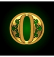 golden letter o vector image vector image
