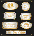 golden sale labels retro vintage design collection vector image vector image