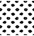 grunge brush black flower seamless pattern vector image vector image