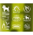 Hairdresser for dog Badges and design elements vector image
