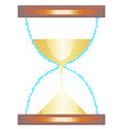 halftone sandglass icon vector image