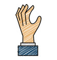 Hand human catching icon