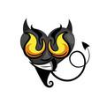heart black icon vector image vector image