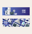 household appliances electronic pattern vector image vector image