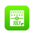independence day icon digital green vector image vector image