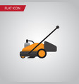 isolated grass-cutter flat icon lawn mower vector image