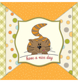 kitty wishes you a nice day vector image vector image