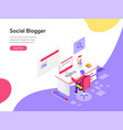 landing page template blog writer concept vector image