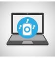 laptop music technology speaker note vector image vector image