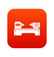 lathe machine icon digital red vector image vector image