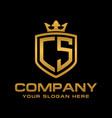 letter cs initial logo luxury logo design vector image vector image