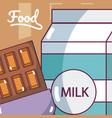 milk box and chocolate
