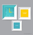 Modern frame on the wall vector image vector image