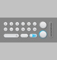 modern trendy smoothy ui set buttons for apps vector image