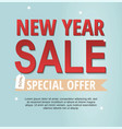 new year sale banner spesial offer vector image vector image