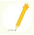 Pencil is on fire isolated