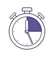 purple line contour of stopwatch icon vector image vector image