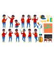 rap bottle singer boy schoolboy poses set vector image