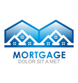 Real Estate Mortgage Home Construction Company vector image vector image