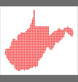 red dot map of west virginia vector image vector image