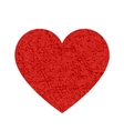 red heart texture icon vector image vector image