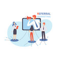 referral marketing businessman shouting in vector image vector image