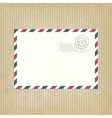 retro background with envelope vector image vector image