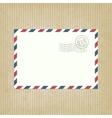 Retro background with envelope