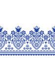 scandinavian folk art greeting card pattern vector image