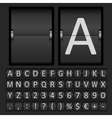 Scoreboard Letters and Numbers Alphabet vector image vector image